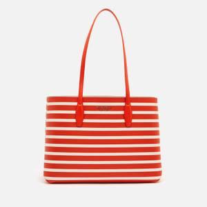Kate Spade New York Women's All Day Sailing Stripe Tote Bag - Tamarillo Multi