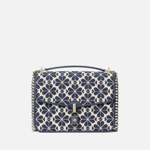 Kate Spade New York Women's Locket Large Jacquard Flap Shoulder Bag - Blue Multi