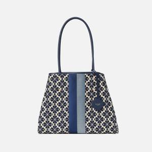 Kate Spade New York Women's Everything Spade Jacquard Large Tote Bag - Blue Multi