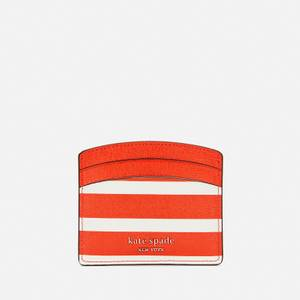 Kate Spade New York Women's Spencer Stripe Card Holder - Tamarillo Multi