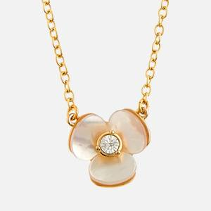Kate Spade New York Women's Precious Pansy Mini Pendant - Cream Multi/Rose Gold