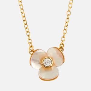Kate Spade New York Women's Precious Pansy Mini Pendant - Cream Multi/Rose Gold