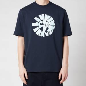 Lanvin Men's Printed Regular T-Shirt - Midnight Blue