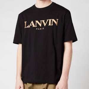 Lanvin Men's Embroidered Regular T-Shirt - Black
