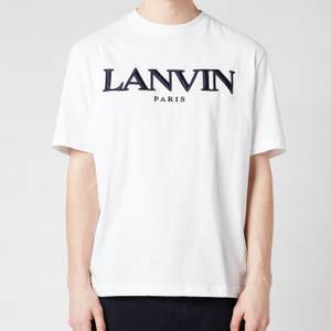 Lanvin Men's Embroidered Regular T-Shirt - White