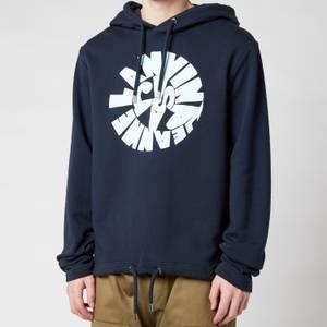 Lanvin Men's Printed Hooded Sweatshirt - Midnight Blue