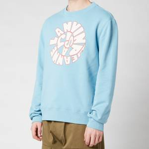 Lanvin Men's Printed Sweatshirt - Sky Blue