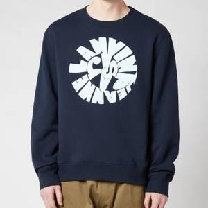 Lanvin Men's Printed Sweatshirt - Midnight Blue