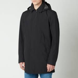 Herno Men's Gore 2L Detachable Hood Lightweight Carcoat - Black