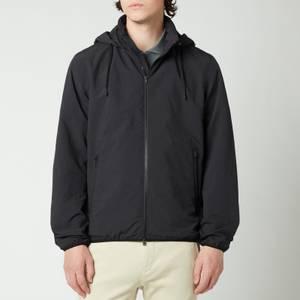 Herno Men's Plaster Zipped Unlined Bomber Jacket - Black