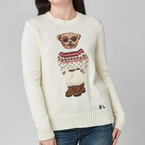 Polo Ralph Lauren Women's Faireisle Bear Sweatshirt - Cream Multi