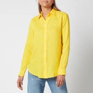 Polo Ralph Lauren Women's Logo Relaxed Shirt - University Yellow