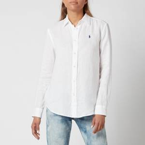 Polo Ralph Lauren Women's Logo Relaxed Shirt - White