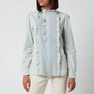 Polo Ralph Lauren Women's Denim Frill Shirt - Chambray