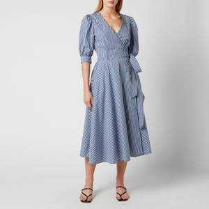 Polo Ralph Lauren Women's Wrap Dress - Blue/White Plaid