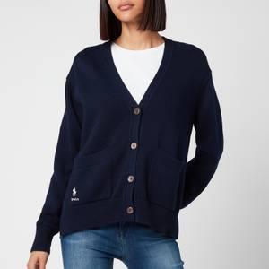 Polo Ralph Lauren Women's Logo Cardigan - Hunter Navy