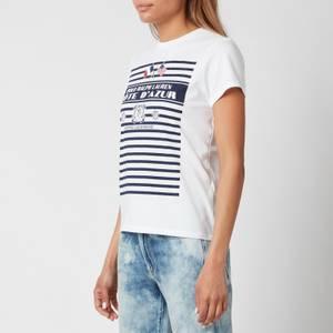 Polo Ralph Lauren Women's Stripe Graph T-Shirt - White