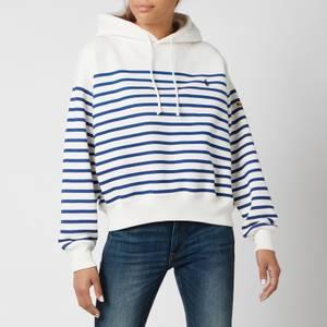 Polo Ralph Lauren Women's Stripe Hooded Top - Deckwash White