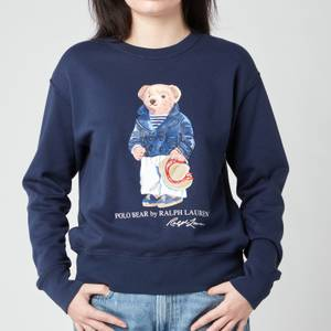 Polo Ralph Lauren Women's Bear Sweatshirt - Cruise Navy