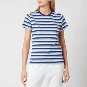 Polo Ralph Lauren Women's Stripe Short Sleeve T-Shirt - Blue/Navy/White
