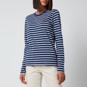 Polo Ralph Lauren Women's Long Sleeve Stripe T-Shirt - Classic Navy/White