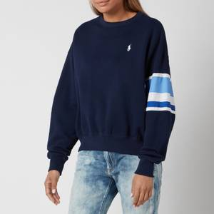 Polo Ralph Lauren Women's Large Polo Logo Relaxed Fit Sweatshirt - Cruise Navy