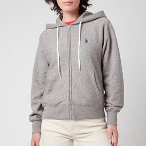Polo Ralph Lauren Women's Zip Up Hooded Top - Dark Vintage Heather