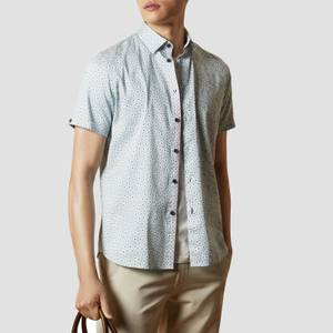 Ted Baker Men's Relax Petal Short Sleeve Shirt - Light Blue
