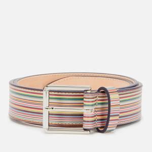 PS Paul Smith Men's Signature Stripe Belt - Multi
