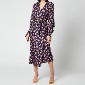 Baum Und Pferdgarten Women's Ajana Wrap Dress - Paris Flower Purple