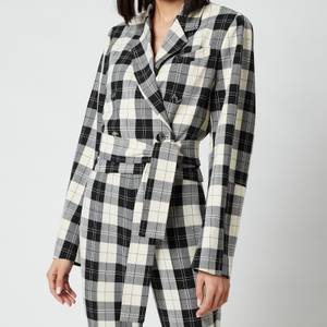 Baum Und Pferdgarten Women's Blayn Jacket - Cream Black Check