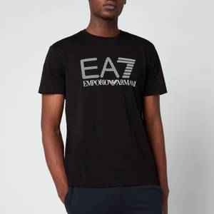 EA7 Men's Train Visibility Pima Crewneck T-Shirt - Black