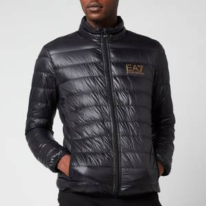 EA7 Men's Train Core ID Light Down Jacket - Black