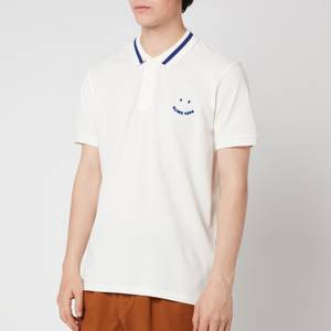 PS Paul Smith Men's Slim Fit Face Polo Shirt - Off White