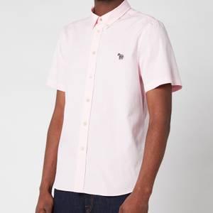 PS Paul Smith Men's Tailored Fir Zebra Badge Polo Shirt - Pink