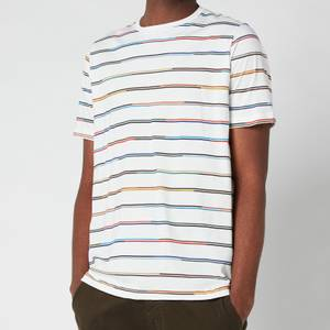 PS Paul Smith Men's Champ Stripe Crewneck T-Shirt - Off White