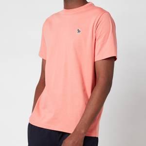 PS Paul Smith Men's Regular Fit Zebra Logo Crewneck T-Shirt - Pink