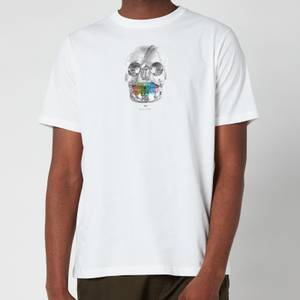 PS Paul Smith Men's Regular Fit Skull Logo T-Shirt - White
