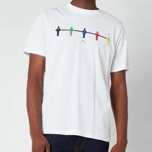 PS Paul Smith Men's Regular Fit Table Football T-Shirt - White