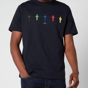 PS Paul Smith Men's Regular Fit Table Football T-Shirt - Dark Navy