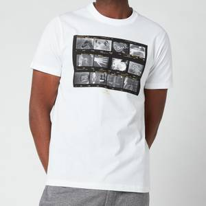 PS Paul Smith Men's Slim Fit Negatives Print T-Shirt - White