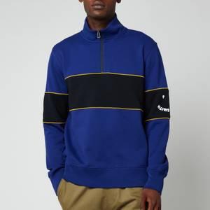 PS Paul Smith Men's Half-Zip Happy Sweatshirt - Indigo