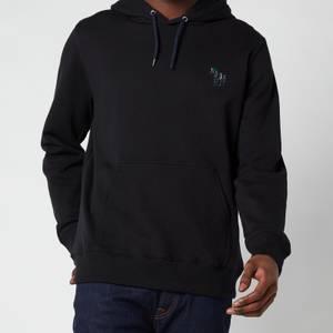 PS Paul Smith Men's Embroidered Zebra Logo Hooded Sweatshirt - Black