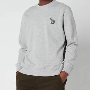 PS Paul Smith Men's Embroidered Zebra Logo Sweatshirt - Melange