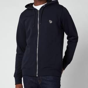 PS Paul Smith Men's Regular Fit Zip-Through Hooded Sweatshirt - Dark Navy