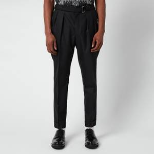 Officine Generale Men's Pierre Pleated Trousers - Black