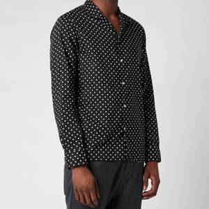 Officine Generale Men's Dario Peas Print Shirt - Black