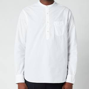 Officine Generale Men's Auguste Cotton Poplin Shirt - White