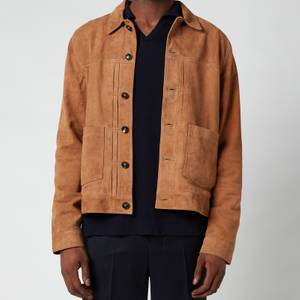Officine Generale Men's Leo Suede Jacket - Tan