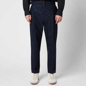 Officine Generale Men's Hugo Straight Fit Trousers - Dark Navy